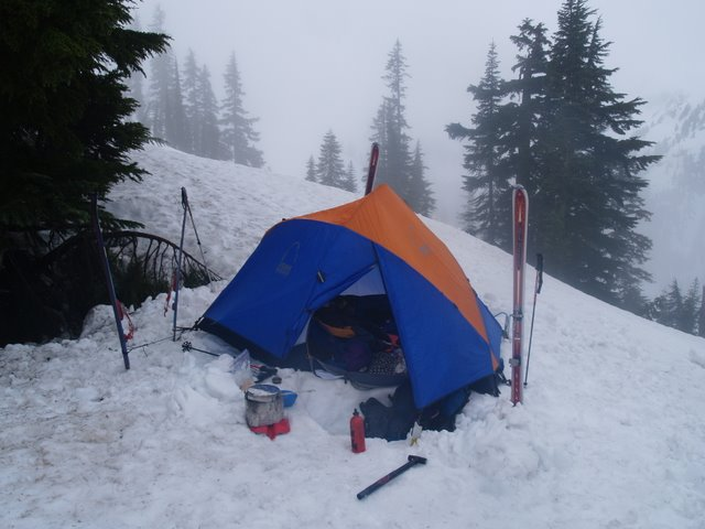 camp at the pass