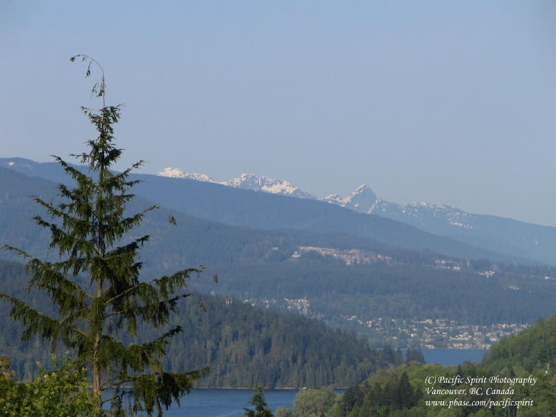 Snow melting on the peaks of Golden Ears Provincial Park