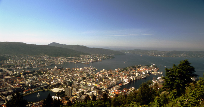 BIRDS-EYE VIEW OF BERGEN