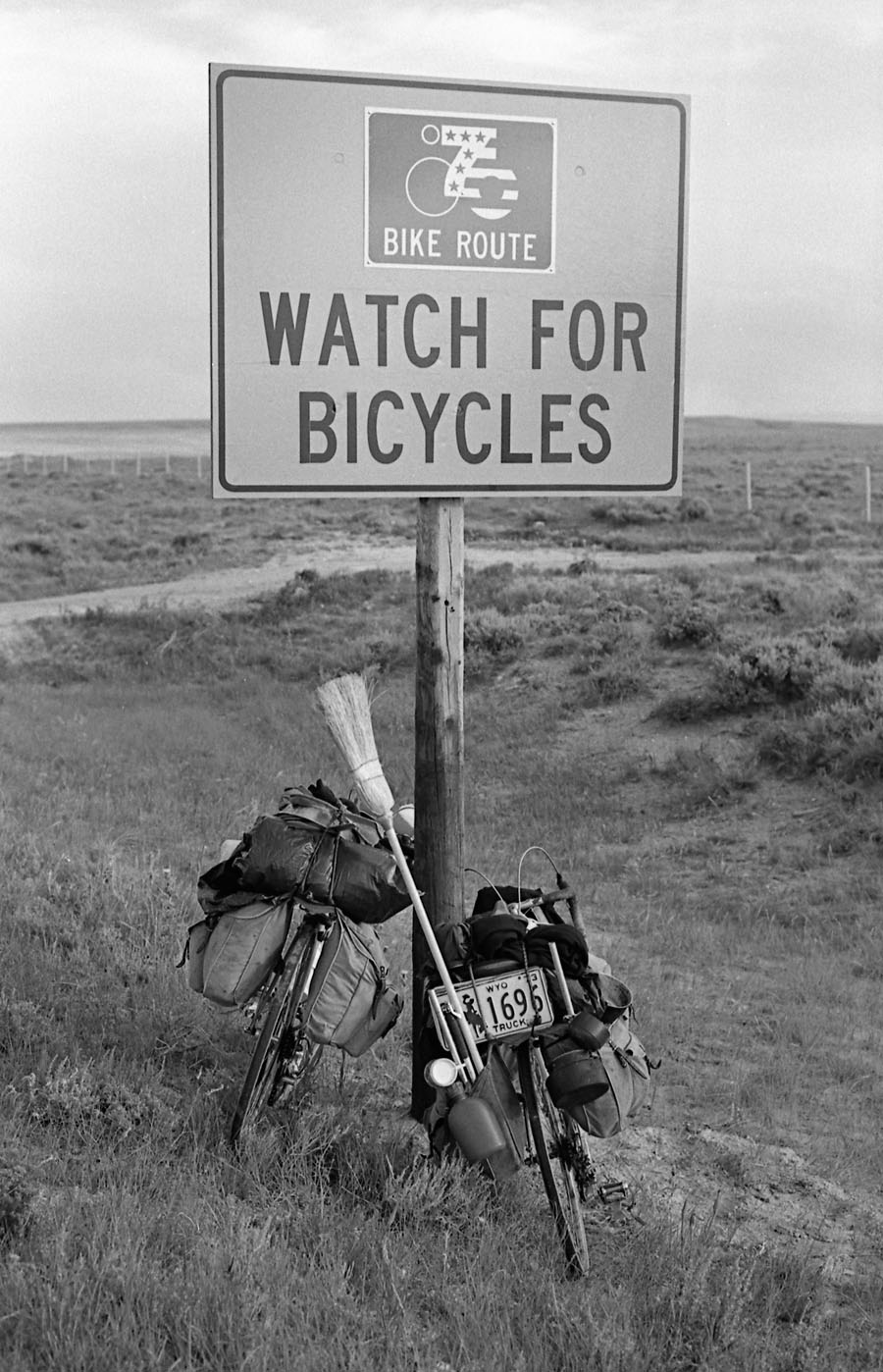Watch out for bicycles with brooms!