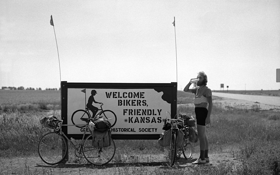 Welcome bikers in Kansas