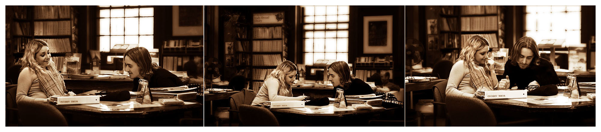 Afternoon talk -- in sepia