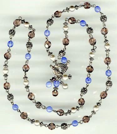 Necklace Blue Purple Silver