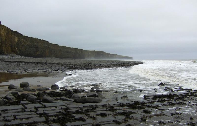 Incoming tide looking east