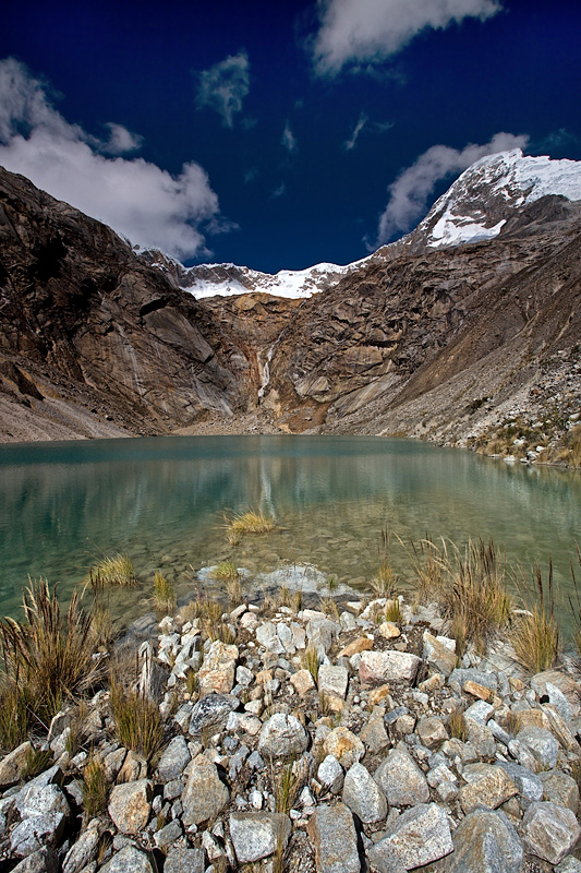 Glacier Lake close to Taullipampa Camp at 4500m.