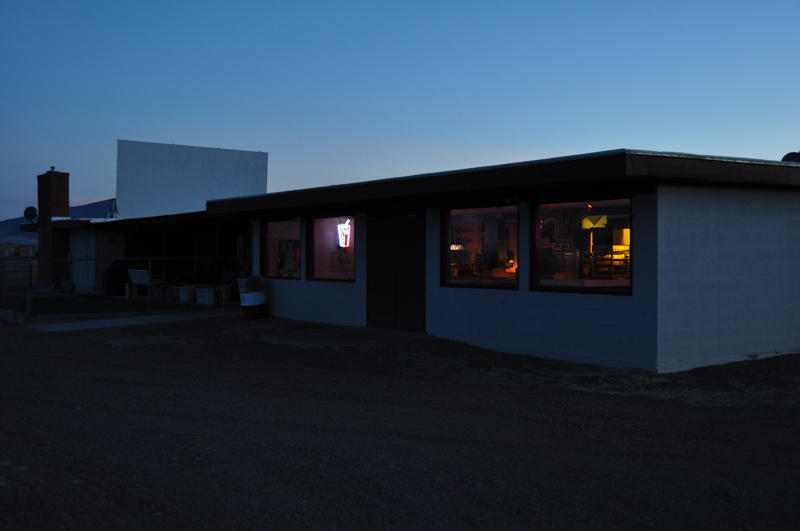 Concession stand and screen #2, Star Drive In.