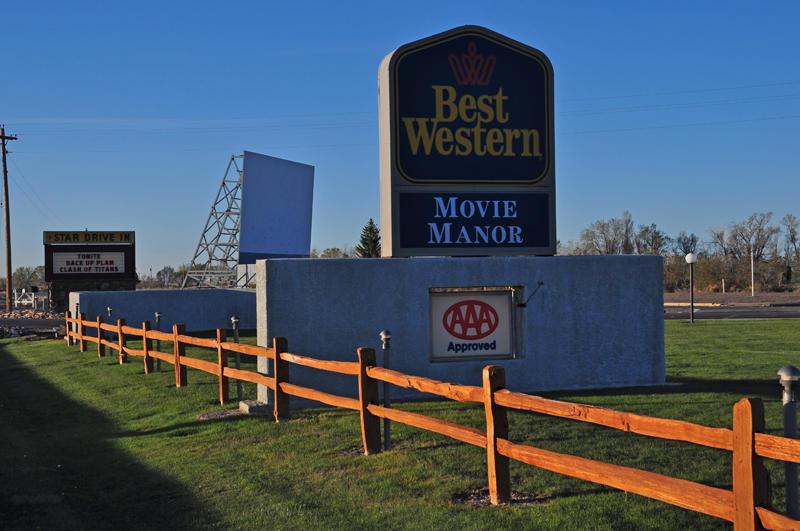 Star Drive In & Best Western Movie Manor Motel.