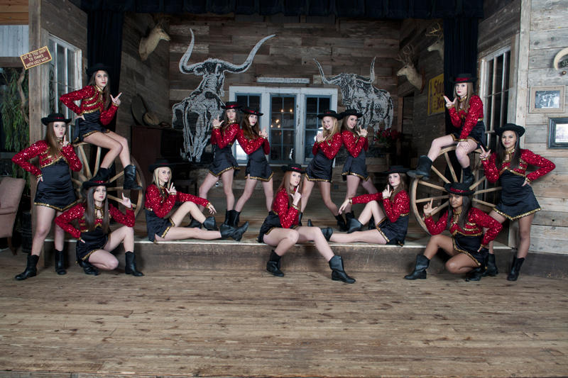 Freshman class of the Victoria East High School Golden Saber Dance Team