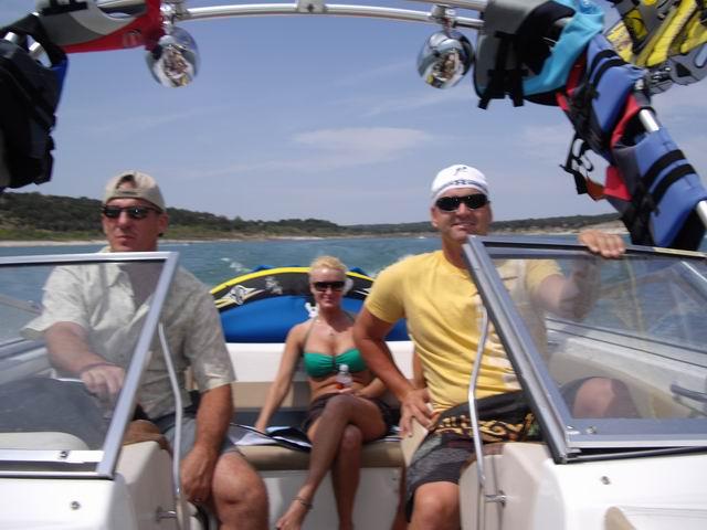 boating at Caynon Lake