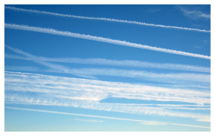 Trails Consolidating and Blanketing Skies
