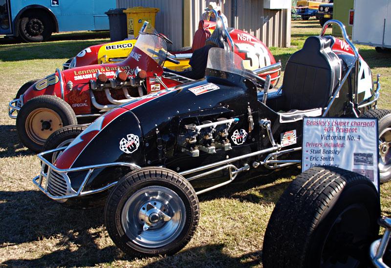 Three racing cars