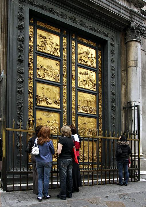 Ghibertis East Doors (Gates of Paradise) Copies - Florence Baptistery.jpg & Ghiberti\u0027s East Doors (\