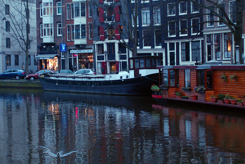 Prinsengracht, twilight