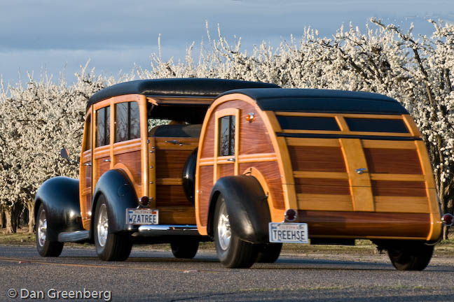 1940 Ford with Teardrop Trailer