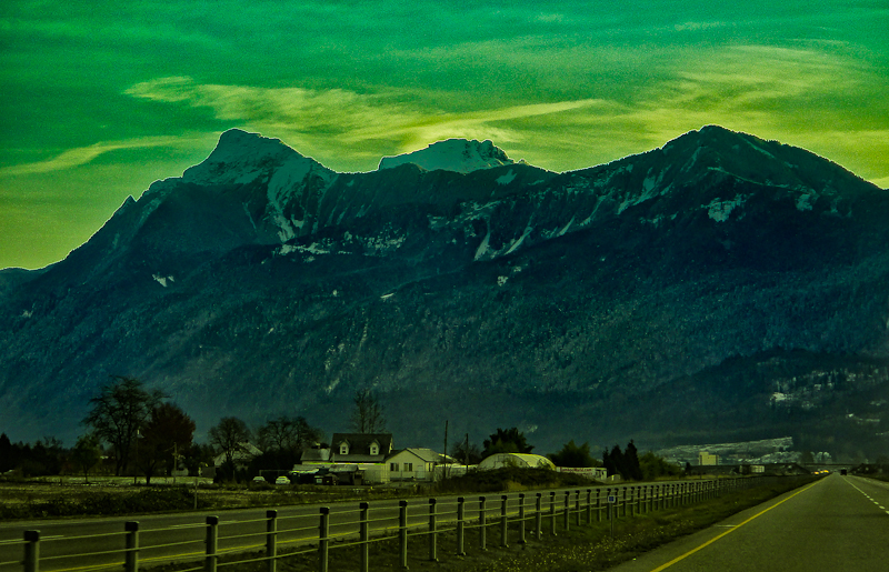 Morning mountain in Fraser Valley, British Columbia, Canada