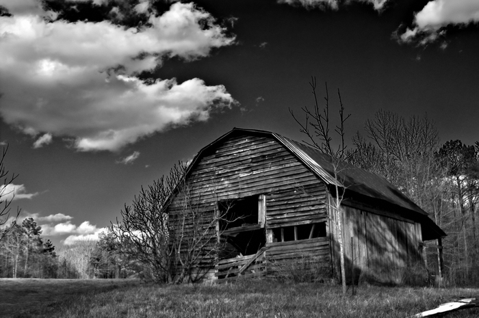 Old barn on Cheaha Mountain