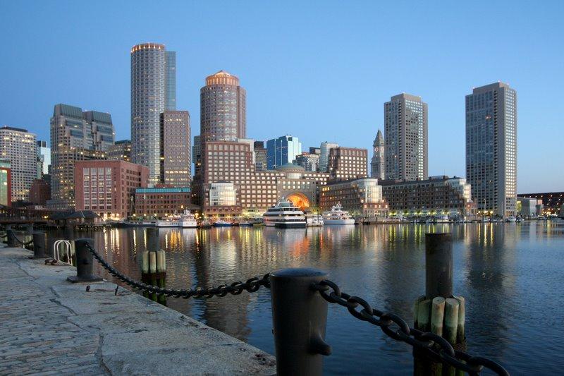 Predawn Glow, Boston Harbor