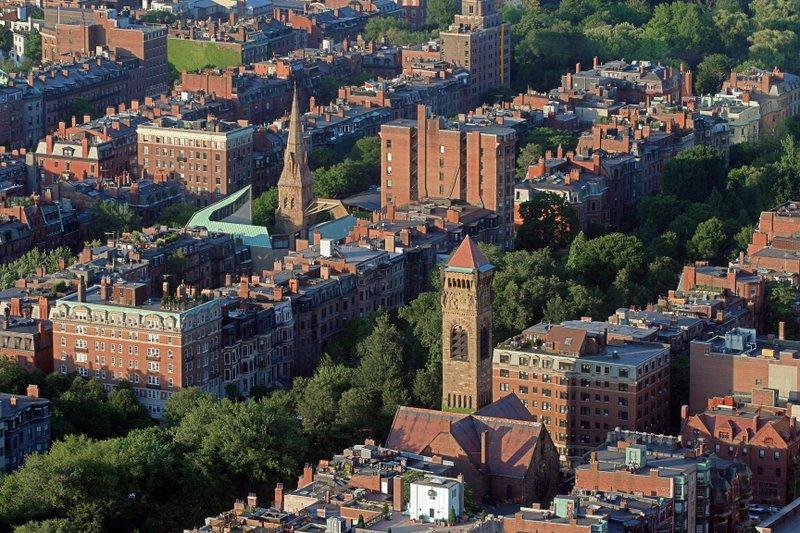 Back Ba,y Boston - Aerial