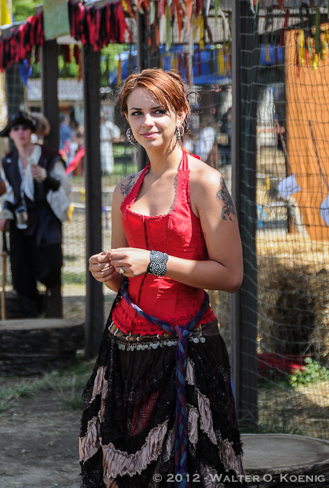 Lady in Red at the Archery Range