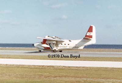 1970 - USCG HU-16 Albatross taking off at CG Air Station St. Petersburg