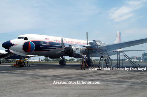 2009 - #2 engine starting to crank over for the first time since August 2004 at Opa-locka Airport aircraft stock photo #1932