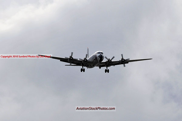 2010 - Historical Flight Foundations restored Eastern Air Lines DC-7B N836D aviation airline stock photo #5688