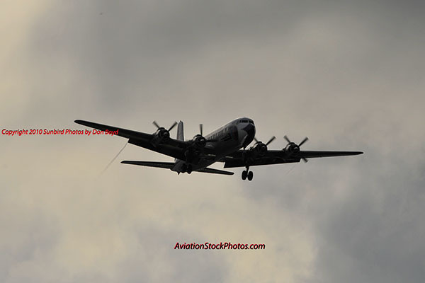 2010 - Historical Flight Foundations restored Eastern Air Lines DC-7B N836D aviation airline stock photo #5690