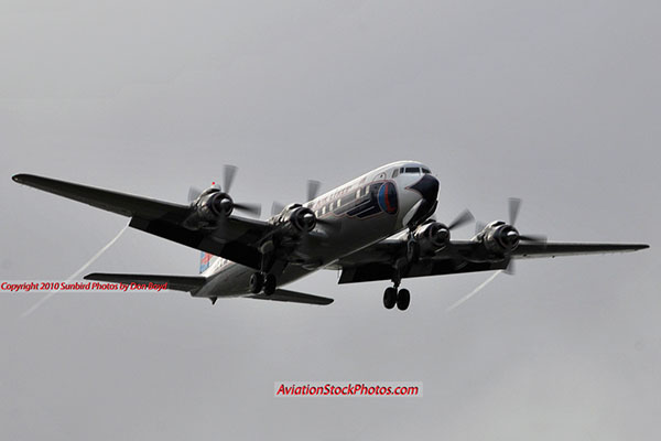 2010 - Historical Flight Foundations restored Eastern Air Lines DC-7B N836D aviation airline stock photo #5694