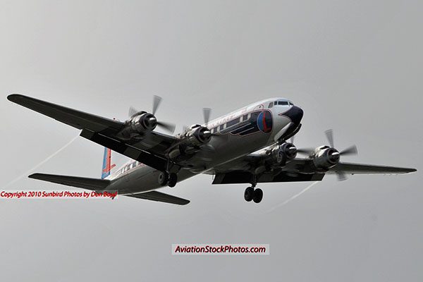 2010 - Historical Flight Foundations restored Eastern Air Lines DC-7B N836D aviation airline stock photo #5696