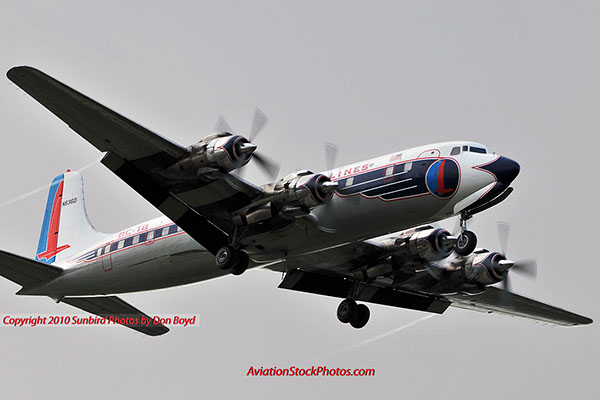 2010 - Historical Flight Foundations restored Eastern Air Lines DC-7B N836D aviation airline stock photo #5699