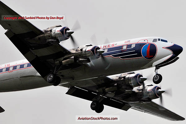 2010 - Historical Flight Foundations restored Eastern Air Lines DC-7B N836D aviation airline stock photo #5700