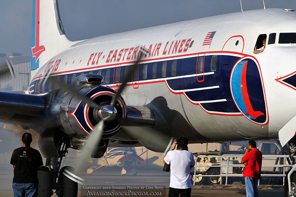 2010 - Historical Flight Foundations restored Eastern Air Lines DC-7B N836D aviation airline stock photo #5712