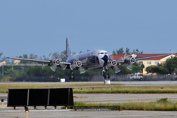 2010 - Historical Flight Foundations restored Eastern Air Lines DC-7B N836D aviation airline stock photo #5721