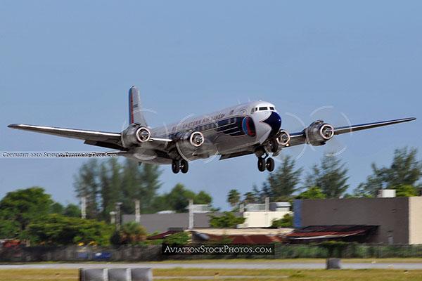2010 - Historical Flight Foundations restored Eastern Air Lines DC-7B N836D aviation airline stock photo #5724