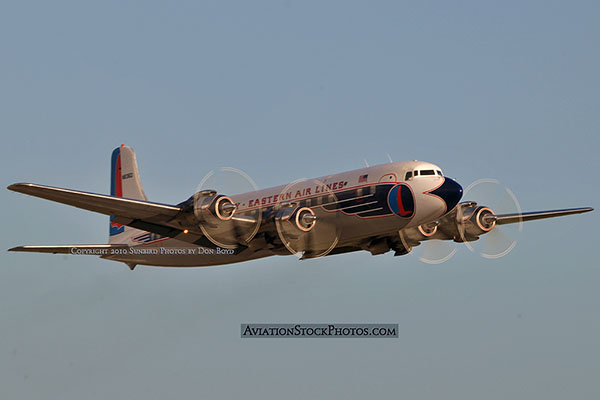 2010 - Historical Flight Foundations restored Eastern Air Lines DC-7B N836D aviation airline stock photo #5727