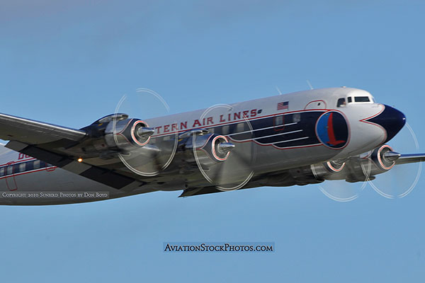 2010 - Historical Flight Foundations restored Eastern Air Lines DC-7B N836D aviation airline stock photo #5728