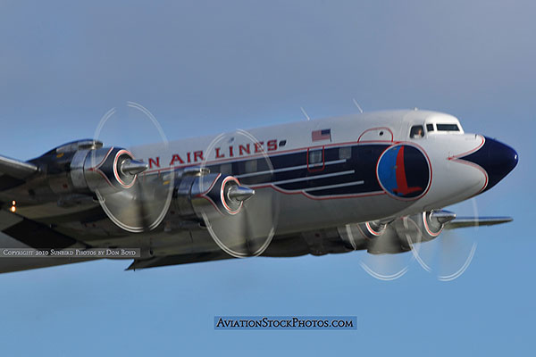 2010 - Historical Flight Foundations restored Eastern Air Lines DC-7B N836D aviation airline photo 5729 (not stock photo)
