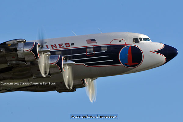 2010 - Historical Flight Foundations restored Eastern Air Lines DC-7B N836D aviation airline stock photo #5731
