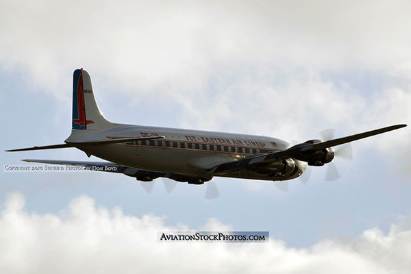 2010 - Historical Flight Foundations restored Eastern Air Lines DC-7B N836D aviation airline stock photo #5734