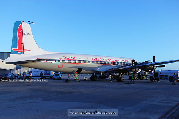 2010 - Historical Flight Foundations restored Eastern Air Lines DC-7B N836D aviation stock photo #1249