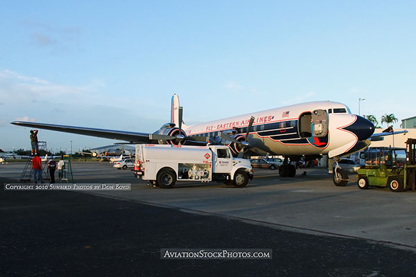 2010 - Historical Flight Foundations restored Eastern Air Lines DC-7B N836D aviation stock photo #1251