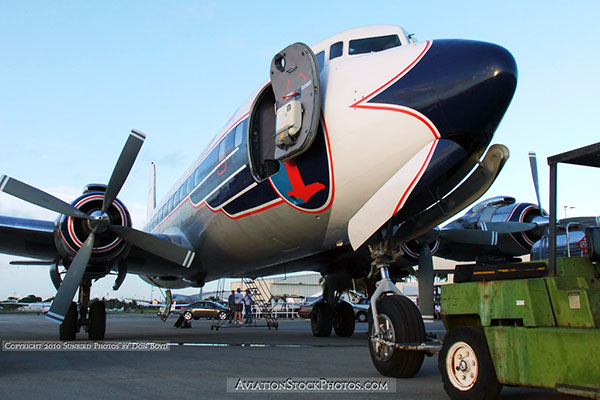 2010 - Historical Flight Foundations restored Eastern Air Lines DC-7B N836D aviation stock photo #1253