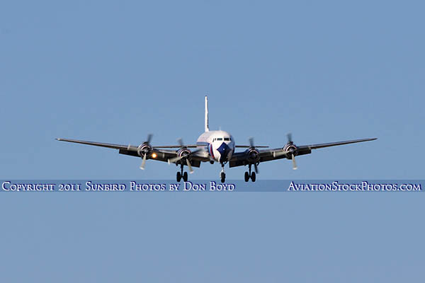 2011 - Historical Flight Foundations restored Eastern Air Lines DC-7B N836D airliner aviation stock #6754