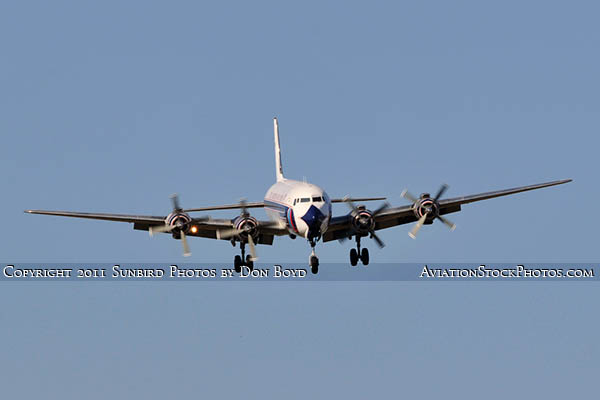 2011 - Historical Flight Foundations restored Eastern Air Lines DC-7B N836D airliner aviation stock #6755