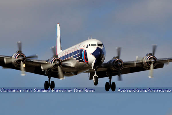 2011 - Historical Flight Foundations restored Eastern Air Lines DC-7B N836D airliner aviation stock #6758