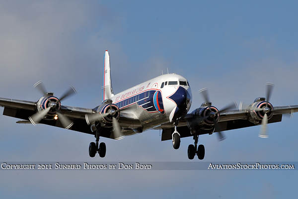 2011 - Historical Flight Foundations restored Eastern Air Lines DC-7B N836D airliner aviation stock #6759