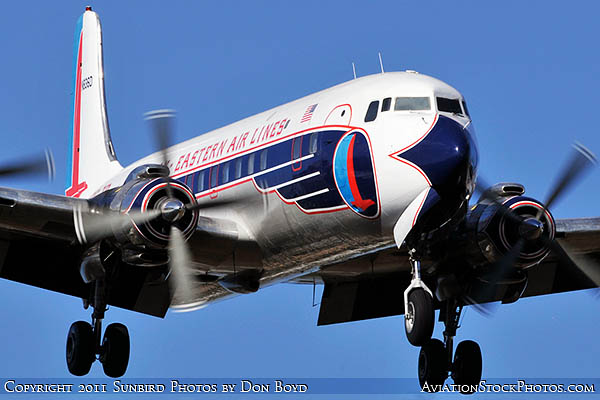 2011 - Historical Flight Foundations restored Eastern Air Lines DC-7B N836D airliner aviation stock #6761