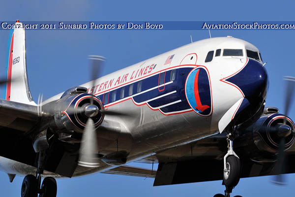 2011 - Historical Flight Foundations restored Eastern Air Lines DC-7B N836D airliner aviation stock #6762
