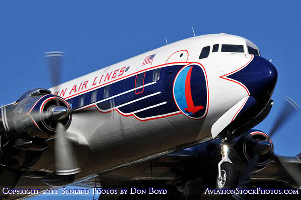 2011 - Historical Flight Foundations restored Eastern Air Lines DC-7B N836D airliner aviation stock #6763