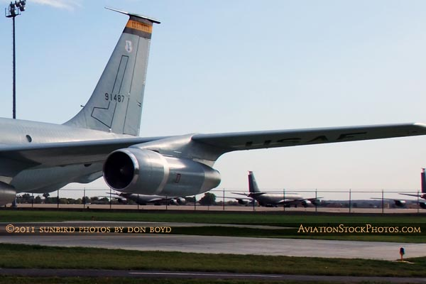 USAF Boeing KC-135A-BN and Illinois Air National Guard KC-135RE Stratotankers at Scott AFB aviation stock photo